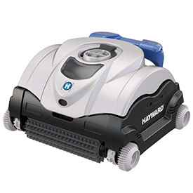 Hayward eVac Pro robotic pool cleaner with caddy