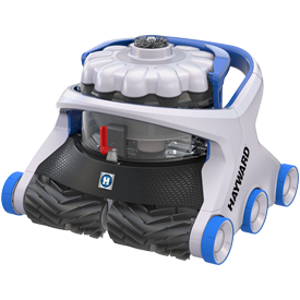 Hayward Aquavac 600 robotic pool cleaner with caddy