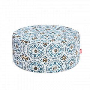 Pffft Outdoor Ottoman in Sunbrella Fabric Blue