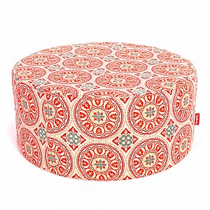 Pffft Outdoor Ottoman in Sunbrella Fabric Orange
