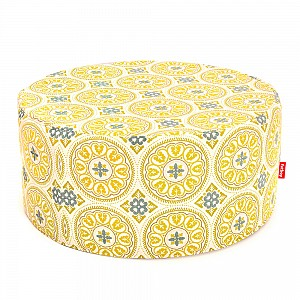 Pffft Outdoor Ottoman in Sunbrella Fabric Green