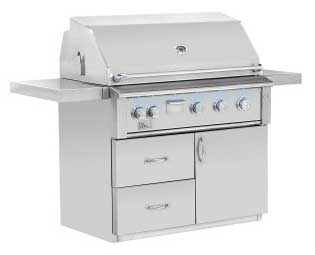 ALTURI FREESTANDING GRILL - stainless steel