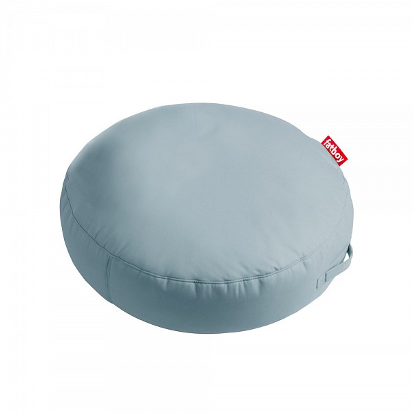 Pupillow Outdoor Round Beanbag in Sunbrella Fabric - Mineral Blue