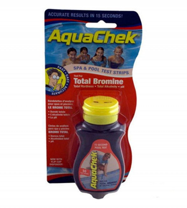 AquaChek Red 4 in 1 Bromine Test Strips