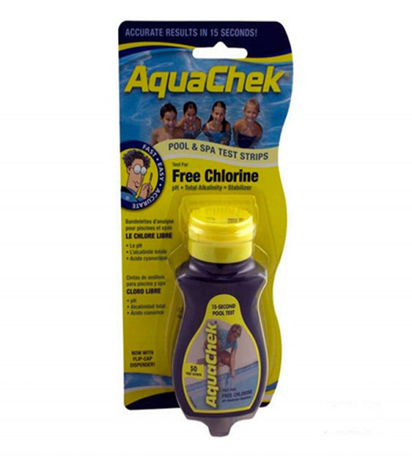 AquaChek Yellow 4 in 1 Chlorine Test Strips