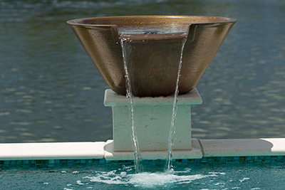 Copper water bowl from Seaway Pools
