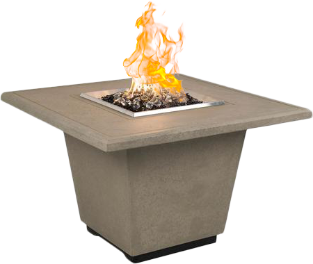 Square fire pit from Seaway Pools