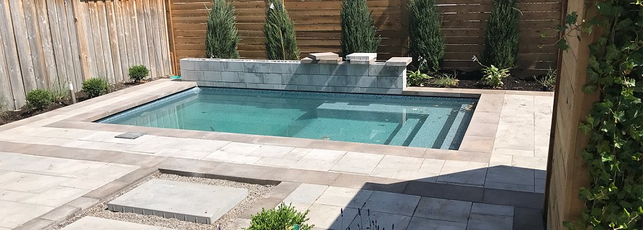 Saltwater pool renovation in Toronto by Seaway