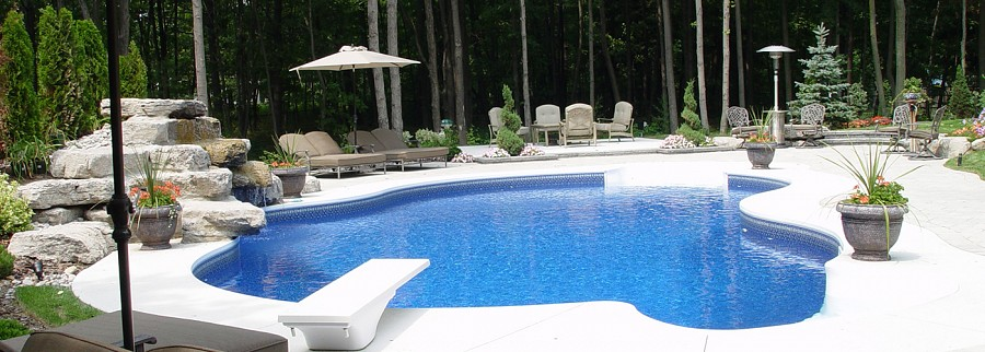 Backyard pool renovation by Seaway Pools