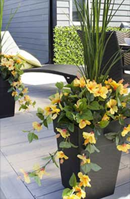 Faux flowers sourced from Seaway Pools & Hot Tubs Outdoor Living offering